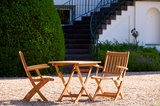 Traditional Teak ALEXIA folding armchair_