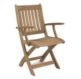 Ocean folding armchair (RVS)
