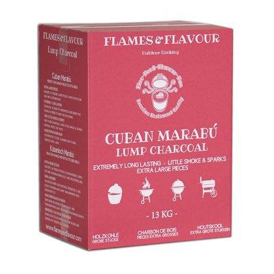 Marabu Houtskool uit Cuba van Flames & Flavour 13 KG